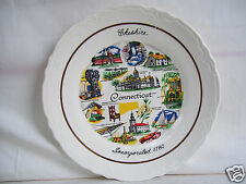 """1780 Collectible 9 1/4"""" Plate Cheshire Connecticut By Conrad Crafters, W. Va."""