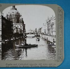 Stereoview Photo Germany Castle Cathedral Kaiser William Bridge Berlin Realistic
