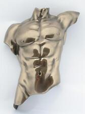 WU72883A1 Man~Male Torso~Wall Plaque~Nude Bronze Statue Sculpture Artistic Body
