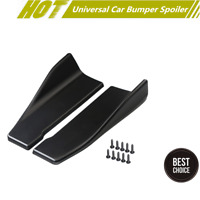 2 Pcs Car Bumper Spoiler Rear Lip Side Skirt Angle Splitter Diffuser Anti-crash&