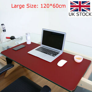 Large PU Leather Office Desk Protector Mat Non Slip Mouse Laptop Pad 47x23.5in