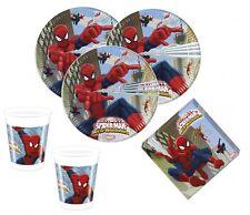 36 tlg. Spiderman Web Warriors Party Deko Set für den Kindergeburtstag 8 Kinder