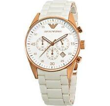 Emporio Armani AR5919 White Sportivo Rosetone Chronograph Watch for Men