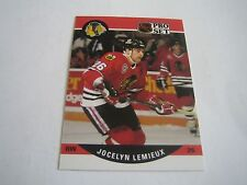 1990/91 PRO SET HOCKEY JOCELYN LEMIEUX CARD #432***CHICAGO BLACKHAWKS***