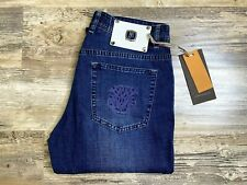 Johnny Mangliani Jeans Luxury Removable White Leather Patch Size 31 $1099 MSRP