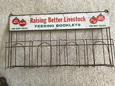 Albers Calf Manna For Dairy Calves Vintage Feeding Booklets Display Wire Rack