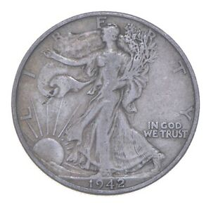 1942-D Walking Liberty 90% Silver US Half Dollar *709
