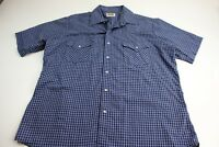Ely Cattleman Bluish Western Pearl Snap Button Up Shirt Large L