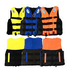 S-XXXL Polyester Adult Life Jacket Universal Swimming Boating Ski Vest+Whistle