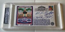 Steve Garvey Davey Lopes Ron Cey Bill Russell Signed FDC Cachet Envelope PSA/DNA