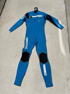 Mystic Front Zip Blue Kiteboarding Wetsuit Men's - 3/2 LT Large Tall