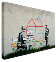Repossession - New Banksy 2013 Canvas Wall Art Picture Print