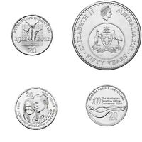 4 x Australian 20 Cent UNC Commemorative coins. changeover, women's day,Taxation