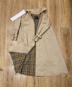 BURBERRY Trench Coat Vintage Women Small