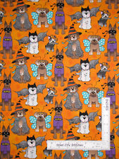 Halloween Puppy Dogs Dog Wearing Costumes Cotton Fabric Traditions Orange Yard