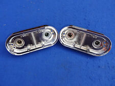 VOLVO CHROME REAR LIGHT BASE 1800S AND 1800E  P1800 P1800E (PAIR OF)