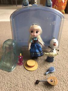 Disney Store Animator's Collection Mini Doll Playset Elsa Frozen Case