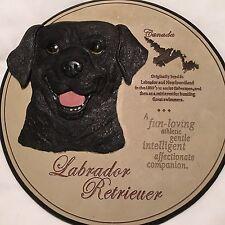 Labrador Retriever 3 - D Wall Hanging/Plaque Black Lab ~Stepping/Garden Stone