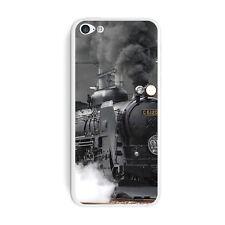 Steam Train Engine Locomotive - Skin Sticker Case for Apple iPhone 5C - Set of 2