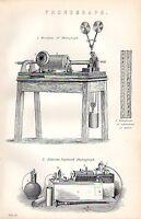 1880 Aufdruck ~ Elevation Von ✿ ~ EDISON'S Verbessert ✿