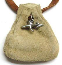 Zodiac essence medicine bag- Sagittarius  (beige suede)