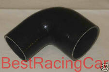 """2"""" to 2.75 Inch 90 degree Silicone Elbow Reducer Intercooler Pipe Silicon, Black"""