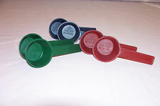 New Six (6) COFFEE MEASURING SCOOP in blue, green and burgundy~NEW~Made in USA