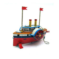 CHRISTMAS-HANGING SHIP STEAM BOAT ADULT COLLECTION ANTIQUE STYLE TIN TOYS IRON M