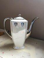 Rare Vintage Colonial Fine China Silverite BAVARIA GERMANY Coffee Tea Pot