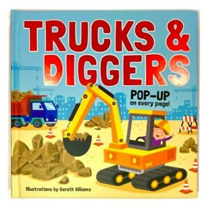 Trucks & Diggers Pop-Up Book, construction and vehicle 3D pictures and children'