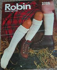 Original Robin Knitting Pattern Family DK Plain/Patterned/Walking Stockings
