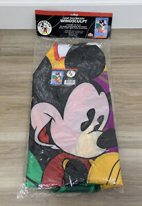 DISNEY MICKEY MOUSE House Yard Flag FALL LEAVES LEAF PILE APPLIQUE