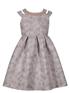 RINGAROSIES AGE 11/12 Girls Party Occasion Dress Pearl Pink Party Confirmation