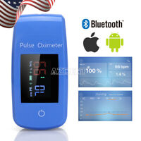 Bluetooth Finger Pulse Oximeter w with Lanyard Support IOS Android Home Care