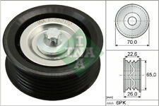 OPEL ASTRA H 1.9D Aux Belt Idler Pulley 04 to 10 Guide Deflection INA 55190812