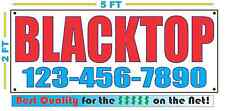 Blacktop w/ Custom Phone Banner Sign New Larger Size High Quality! Black Top