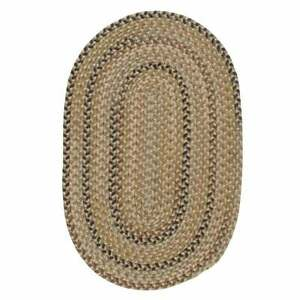 Charlesgate Variegated Green Wool Blend Country Farmhouse Oval Round Braided Rug