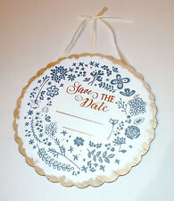 SAVE THE DATE GIFT PLAQUE Wooden Ribbon FOLKSY WEDDING PRE-INVITE SIGN Special