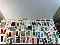 Lot of over 100 Vintage Matchbox Covers feat. Ads and Pharmacy / Drug Stores