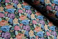 Gobelinstoff 1,5 m Breite  ab 0.5m Gobelin Stoff Jacquard Dekostoff Rose Blumen