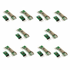 10Pcs 433Mhz Superheterodyne 3400 RF Transmitter Receiver kits for ARM/MCU