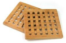 KING Hoff Set 2 Topfuntersetzer Holz Tischschoner Holzuntersetzer Bambus KH-1216