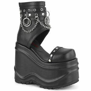 WAVE-22  Black Vegan Leather