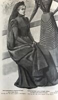 French MODE ILLUSTREE SEWING PATTERN July 31,1898 MOURNING DRESSES