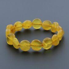 Adult Baltic Amber Bracelet Large Side Drilled Tablet Beads 9.19gr. SD35