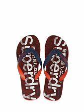 SuperDry Mens Scuba Grit Flip Flops Beach Sandals Red