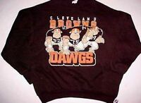 Cleveland Browns NFL AFC Logo 7 Adult Unisex Brown Lightweight Dawgs Fleece L