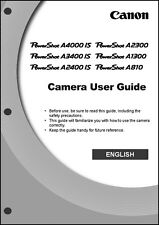 Canon Powershot A2300  A1300  A810 Digital Camera User Guide  Manual