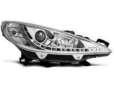 Paire de feux phares Peugeot 207 06-09 Daylight led chrome (E22)