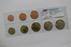BELARUS 2004 FANTASY EURO PATTERN COIN SET B36 #51